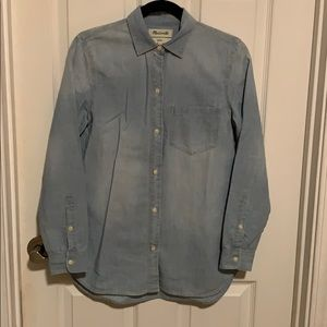 Madewell Chambray Shirt Sz XS. Barely Worn!